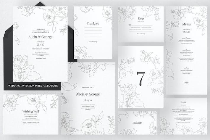 Thumbnail for Wedding Invitation Suite - M.Botanic