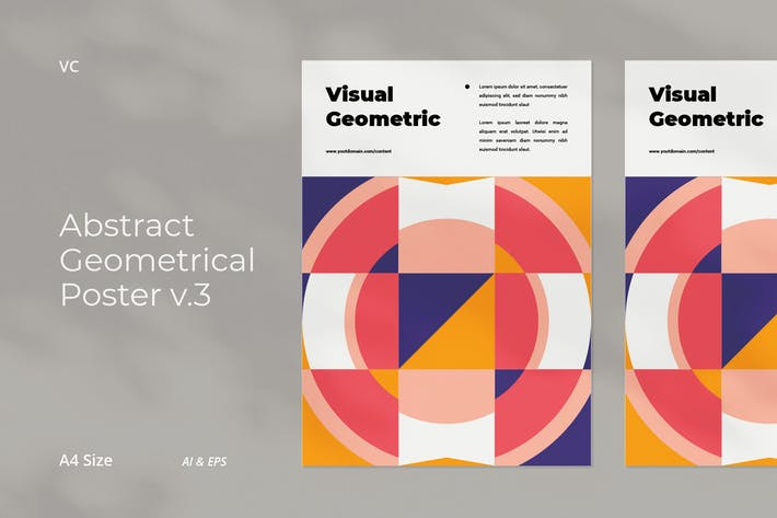 Thumbnail for Abstract Geometrical Poster v.3