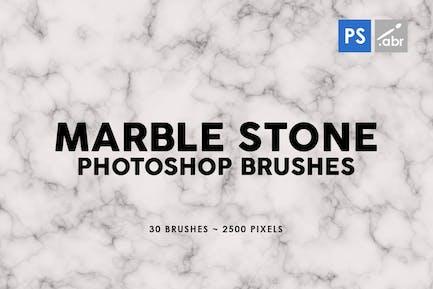 30 Pinceles para sellos de piedra de mármol Photoshop