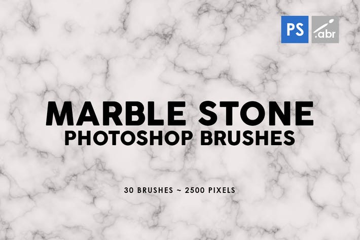Thumbnail for 30 Marble Stone Photoshop Stamp Brushes