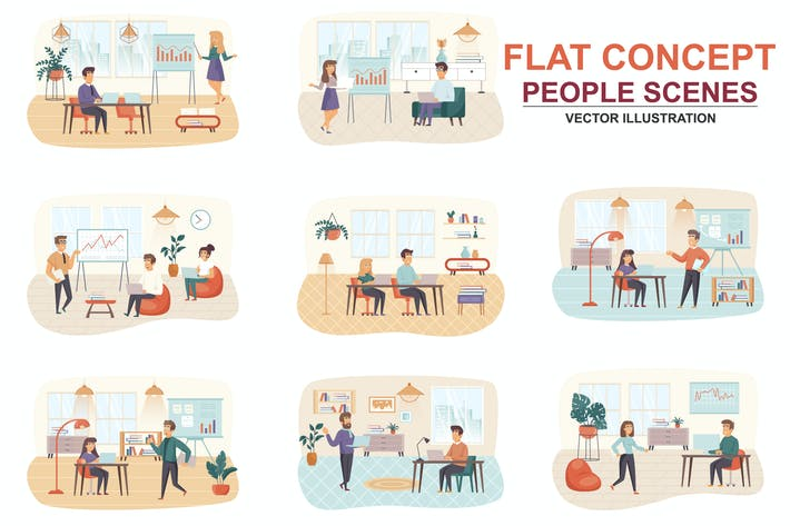 Thumbnail for Collection Management Flat Concept People Scenes