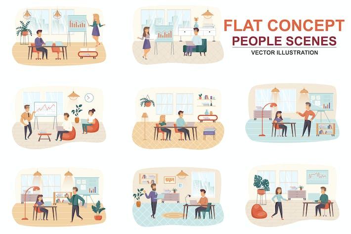 Thumbnail for Sammlung Management Wohnung Konzept Menschen Szenen