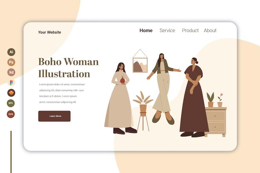 Boho Woman Vol 5 - Landing Page Template