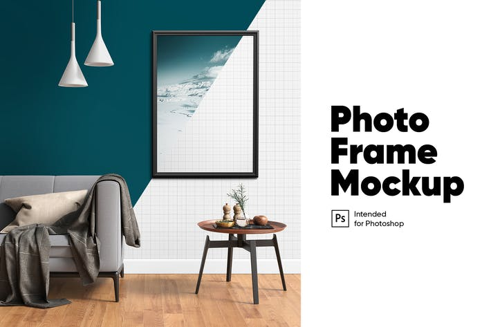 Thumbnail for Realistic Photo Frame Mockup