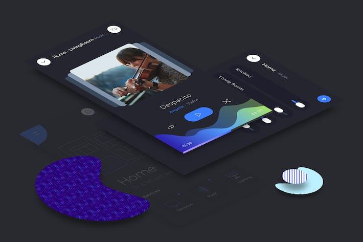 Thumbnail for Smart Home Music Mobile Ui v.2