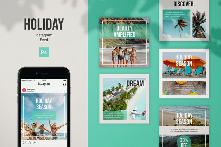 Thumbnail for Holiday Instagram Feed Post Template