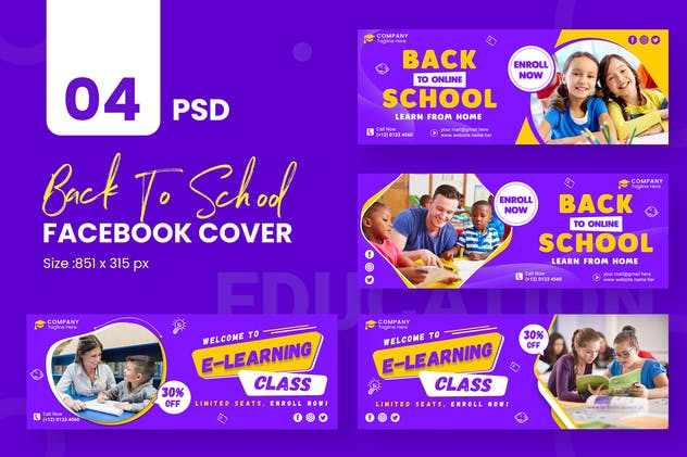 Online Education Facebook Timeline Covers