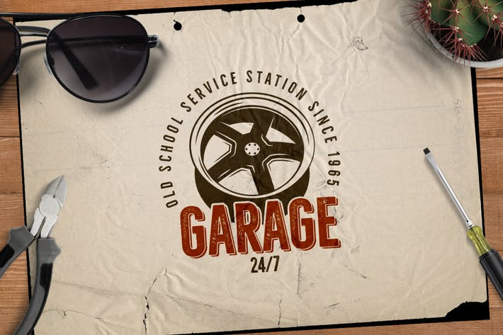 Thumbnail for Garage - Car Service Emblem / Retro Logo