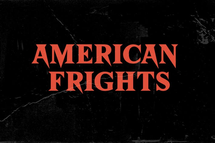 Cover Image For American Frights - Horror Serif Font
