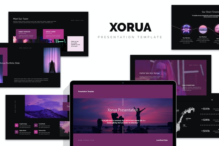 Xorua : Purple Gradient Color Tone Keynote