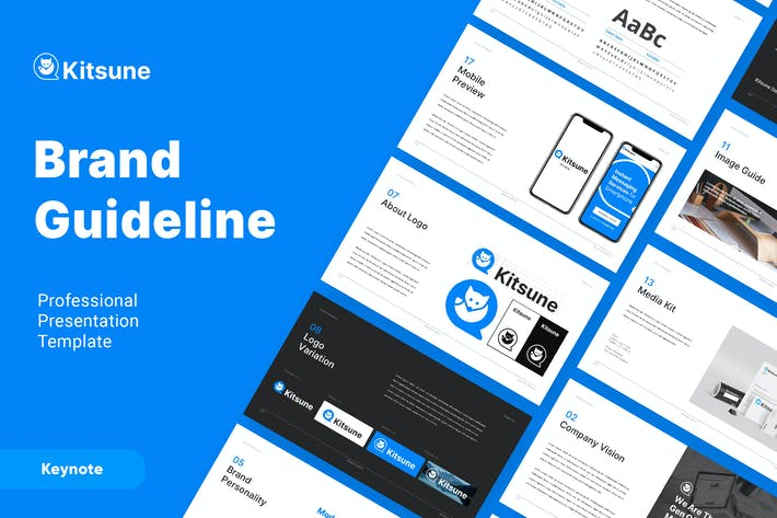 Thumbnail for KITSUNE - Brand Guideline Keynote