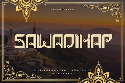 Sawadikap - Authentic Thai Typeface