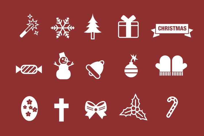 Thumbnail for 45 Christmas & Holiday Icons