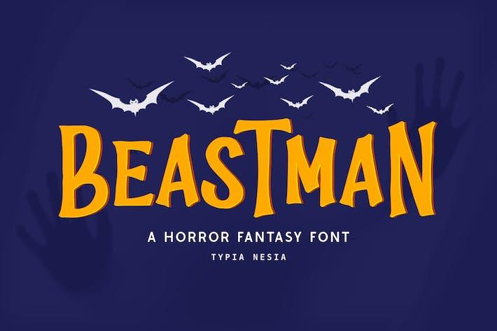 Thumbnail for Beastman - Fantasy Horror Font