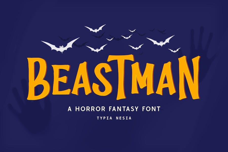 Beastman - Fantasy Horror Font