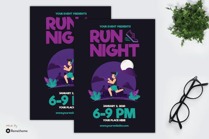 Thumbnail for Run Night - Flyer GR