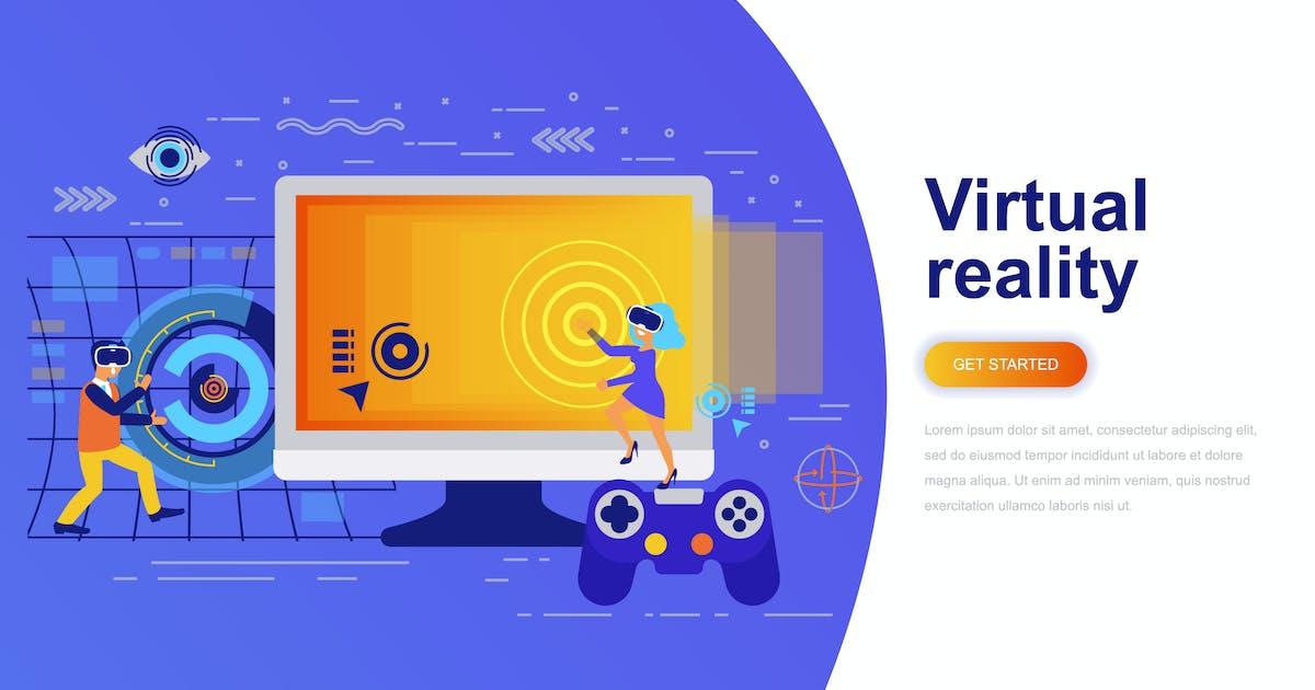 Download Virtual Reality Modern Flat Concept by alexdndz