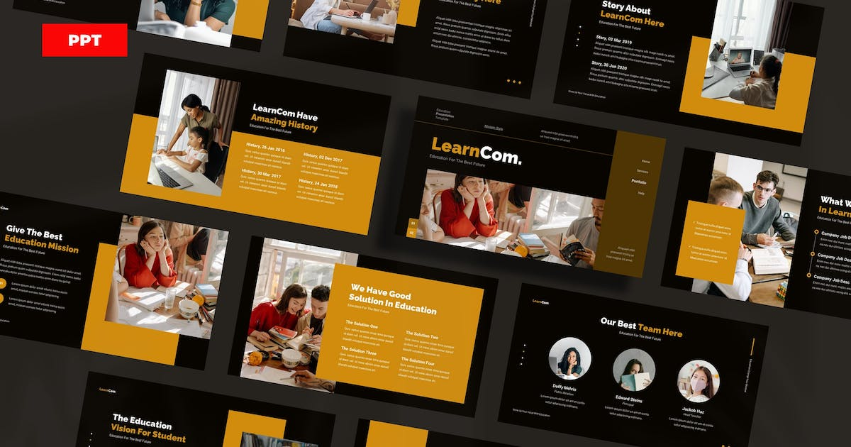 Download LearnCom Education - PowerPoint UP by Rometheme