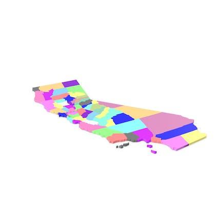 Карта графств Калифорния