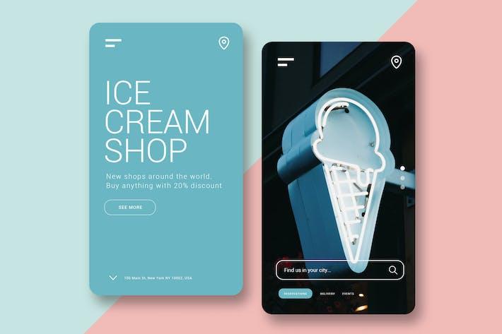 Thumbnail for Ice Cream Shop - Mobile UI Kit