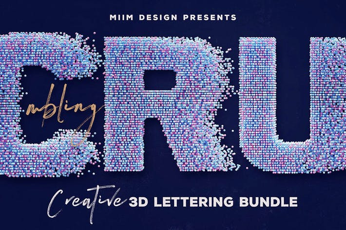 Thumbnail for Crumbling – 3D Lettering