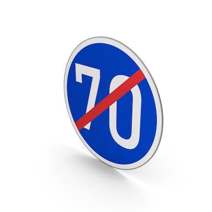 Road Sign End Minimum Speed Limit 70