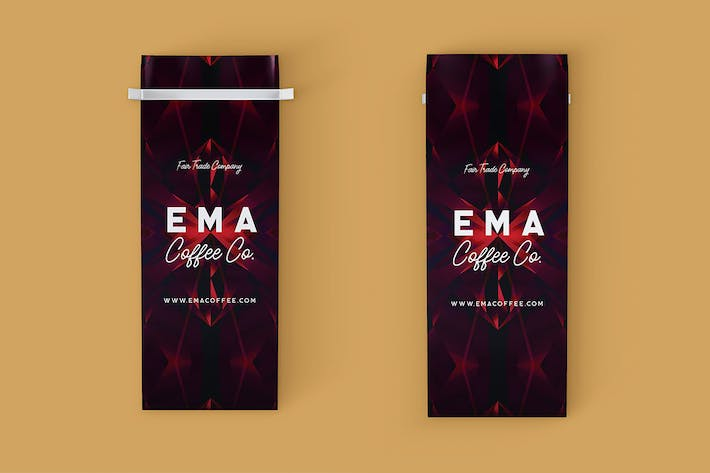 Thumbnail for Coffee Bag - Front & Back Mock-up