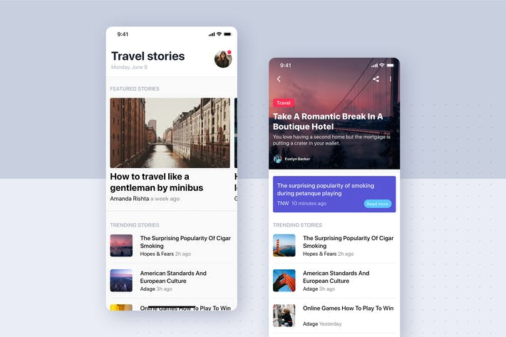 Thumbnail for Articles Details UI Mobile Template