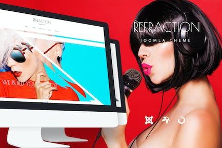 Refracción — Agencia Creativo y Plantilla de Blog