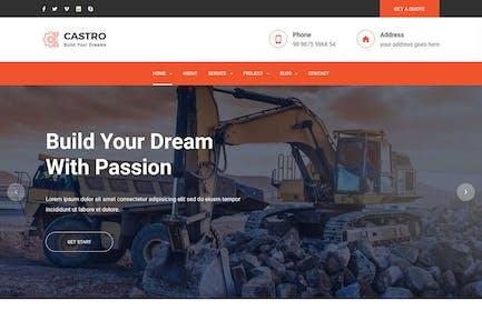 Castro — React Construction Vorlage