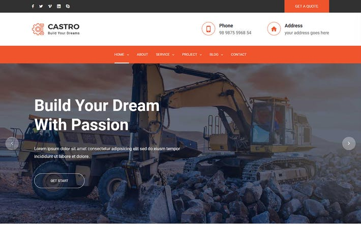 Thumbnail for Castro – React Construction Template