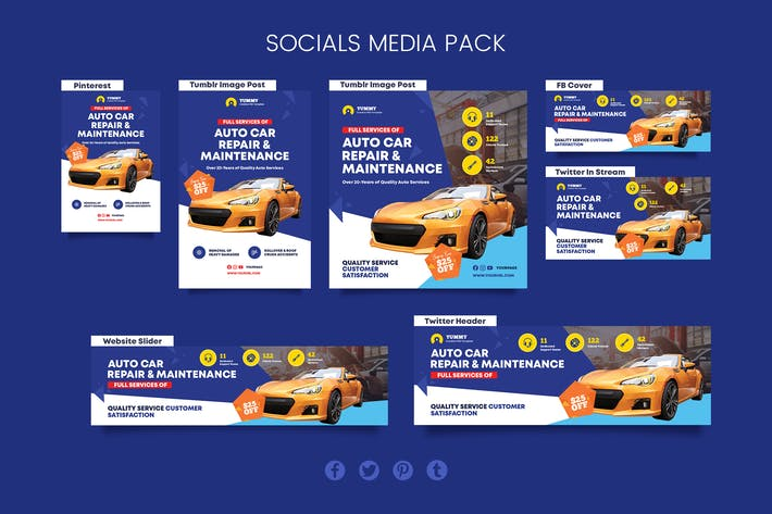 Thumbnail for Car Repair Services Social Media Pack