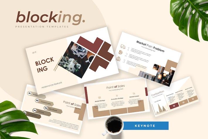 Thumbnail for Blocking - Pitch Deck Keynote Presentation