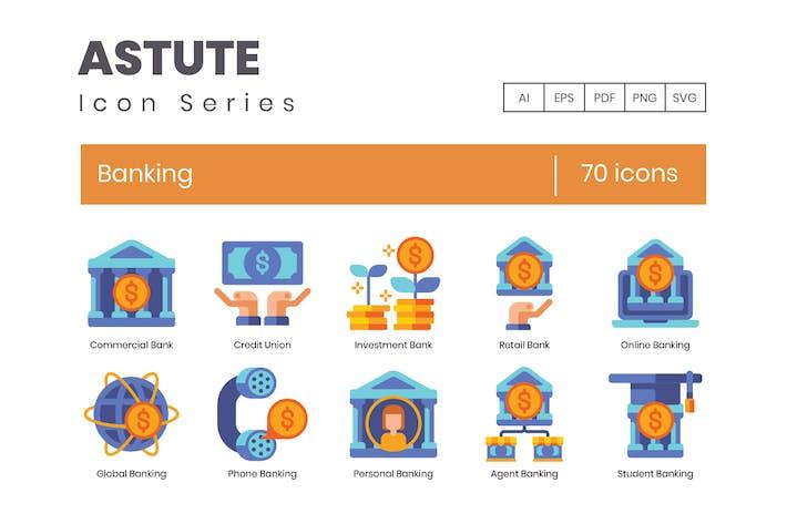 70 Banking Flat Icons