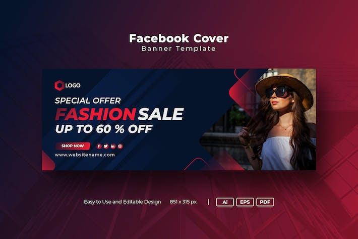 Modern Fashion Sale Facebook Cover Template