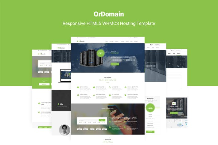 Thumbnail for OrDomain - Responsive HTML5 WHMCS Template