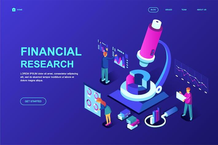 Thumbnail for Plantilla de Página de inicio isométrico de Financial Research