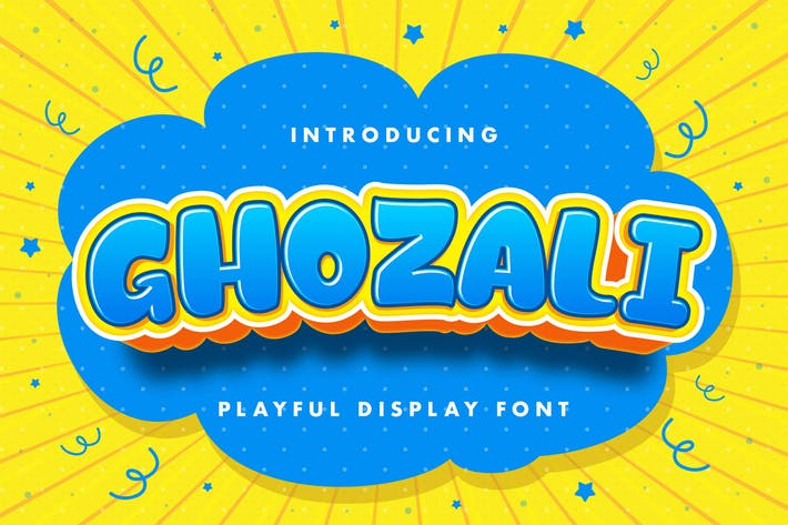 Thumbnail for Ghozali - Playful Display Font