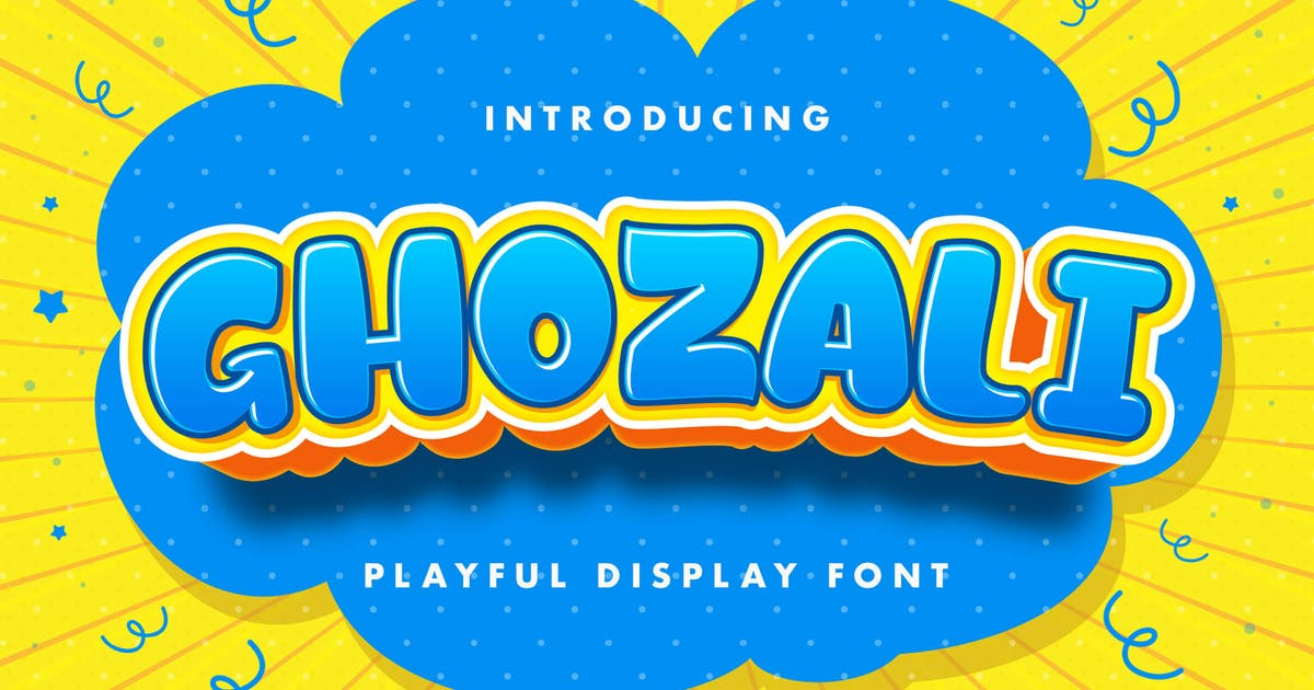 Download Ghozali - Playful Display Font by GoldenGraph
