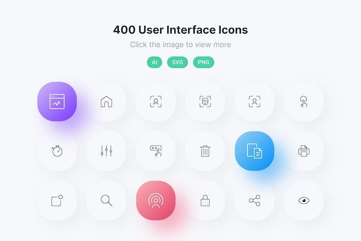 Zeilensymbole für die Benutzeroberfläche
