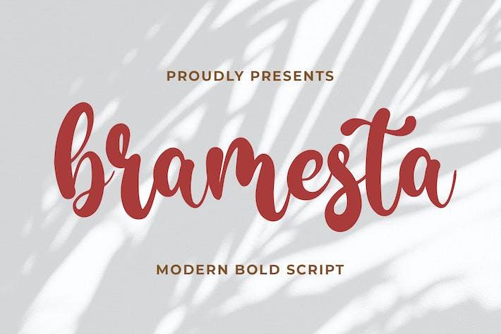 Thumbnail for Bramesta - escritura moderna en negrita