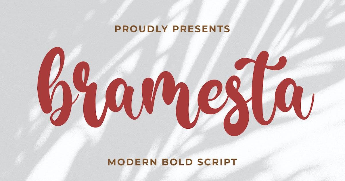 Download Bramesta - Modern Bold Script by Blankids