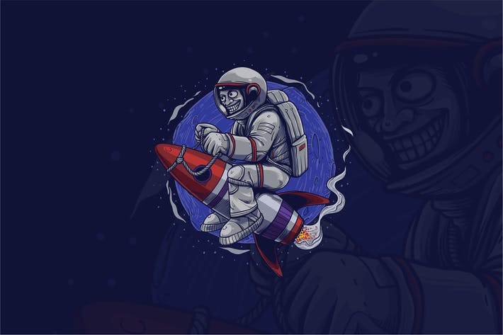 Thumbnail for Camiseta Astronauta Graphic