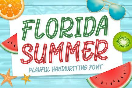 Florida Summer - Playful Handwriting Font