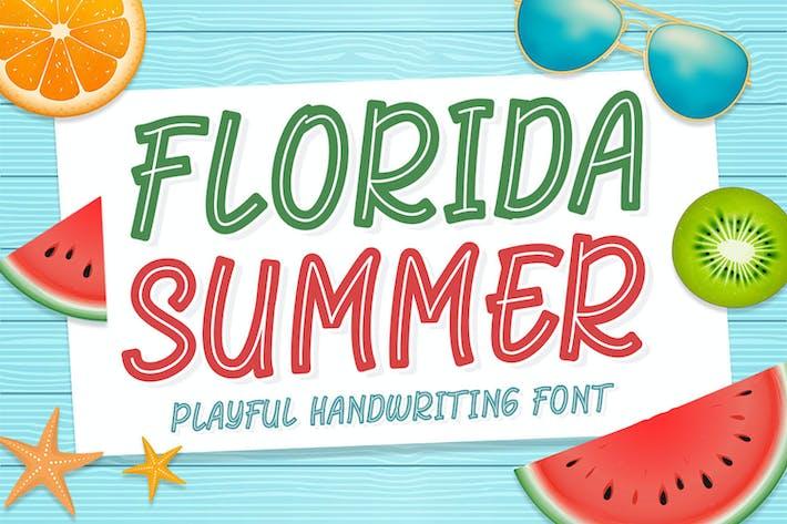 Thumbnail for Florida Summer - Playful Handwriting Font
