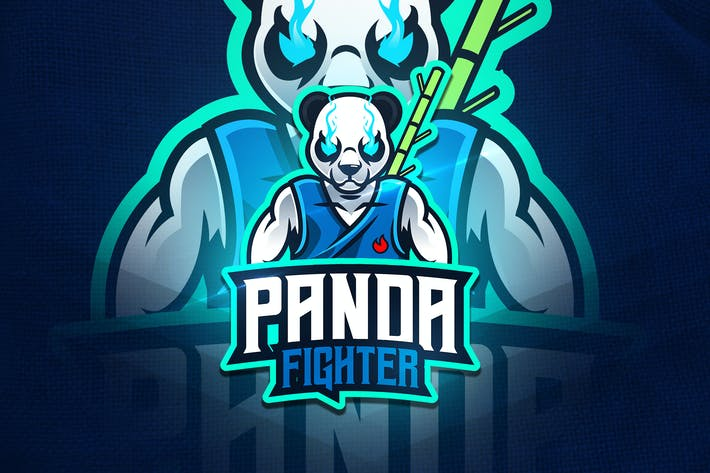 Thumbnail for Panda Fighter - Mascot & Esport Logo