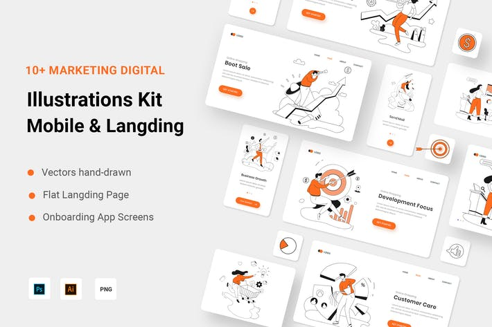 Маркетинговый цифровой иллюстрации