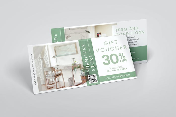 Thumbnail for Furniture Store AI and PSD Gift Voucher Template