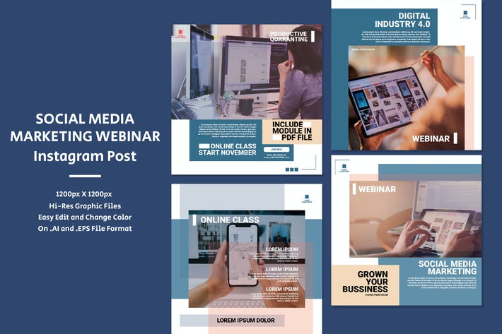 Thumbnail for Social Media Marketing Webinar - Instagram Post
