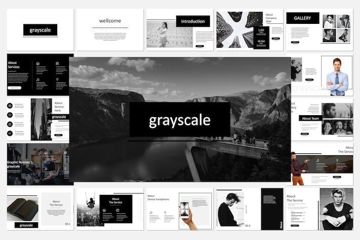 Thumbnail for Grayscale Keynote Template